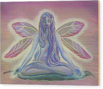 Lotus Faerie Wood Print