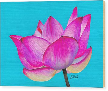 Wood Print featuring the painting Lotus  by Laura Bell