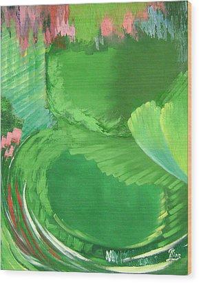 Lotus Leaves Wood Print by Lian Zhen