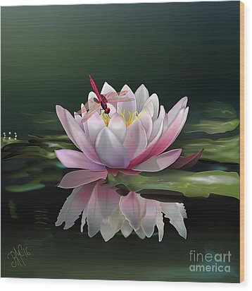 Lotus Meditation Wood Print