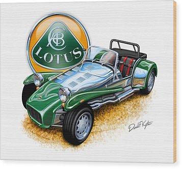 Lotus Super 7  Wood Print by David Kyte