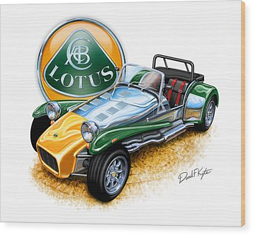 Lotus Super Seven Sports Car Wood Print by David Kyte