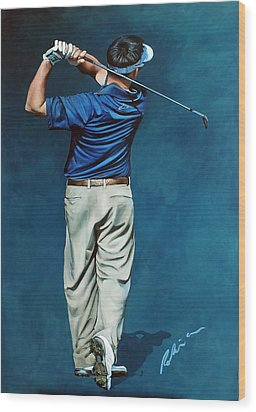 Louis Osthuizen Open Champion 2010 Wood Print by Mark Robinson