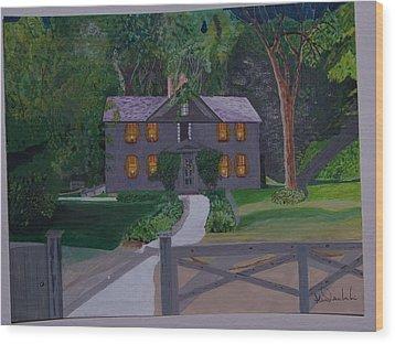 Louisa May Alcott's Home Wood Print by William Demboski