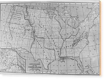 Louisiana Purchase Map Wood Print