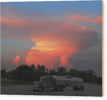 Wood Print featuring the photograph Louisiana Sunset by Maggy Marsh