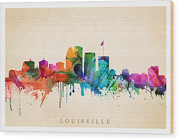 Louisville Cityscape  Wood Print