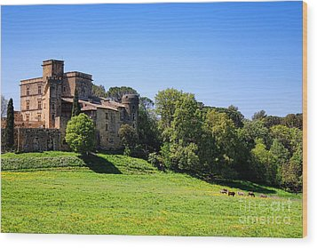 Lourmarin Castle Wood Print by Olivier Le Queinec