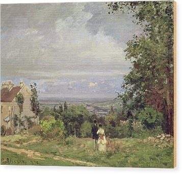 Louveciennes Wood Print by Camille Pissarro