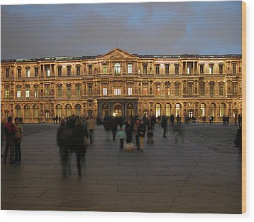 Wood Print featuring the photograph Louvre Palace, Cour Carree by Mark Czerniec