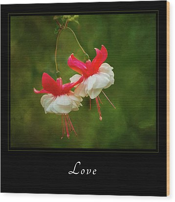 Wood Print featuring the photograph Love 1 by Mary Jo Allen