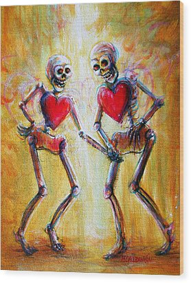 Wood Print featuring the painting Love 2 Love by Heather Calderon