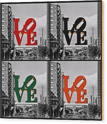 Wood Print featuring the photograph Love 4 All by DJ Florek