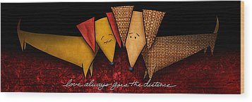 Love Always Goes The Distance Wood Print by Shevon Johnson
