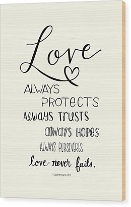 Love Always Wood Print