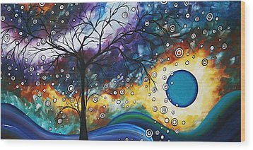 Love And Laughter By Madart Wood Print by Megan Duncanson