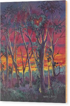 Love And The Evening Star Wood Print