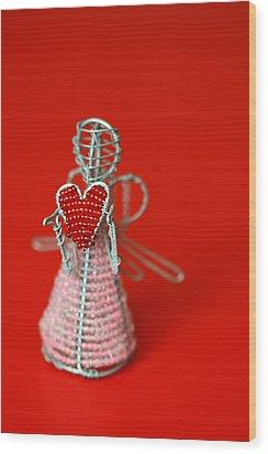 Love Angel Wood Print by Evelina Kremsdorf