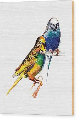 Love Birds Wood Print by Anil Nene
