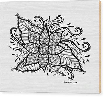 Love Blooms Wood Print