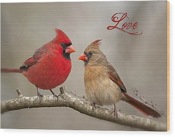 Love Wood Print by Bonnie Barry
