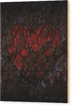Love Buried Deep Wood Print