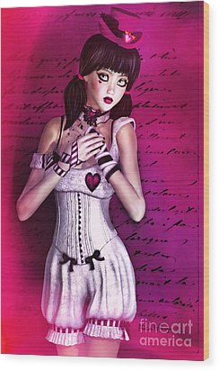 Love Doll Wood Print