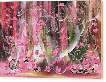 Love Floats Wood Print by Joy Gerow