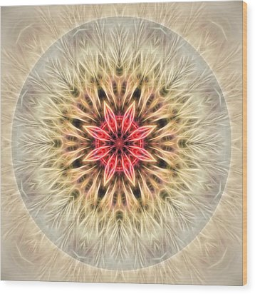 Love From Within Mandala Wood Print