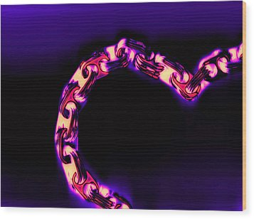 Love Glows Strong Wood Print by Dolly Mohr