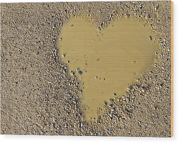 Love In A Muddy Puddle Wood Print by Meirion Matthias