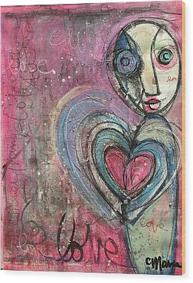 Wood Print featuring the painting Love In All Things by Laurie Maves ART