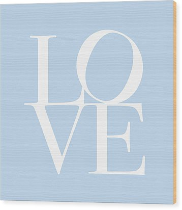 Love In Baby Blue Wood Print by Michael Tompsett