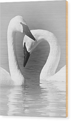 Love In Black And White Wood Print