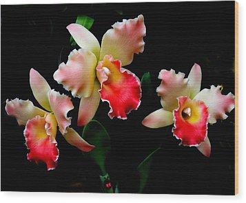 Love In Flowers Wood Print