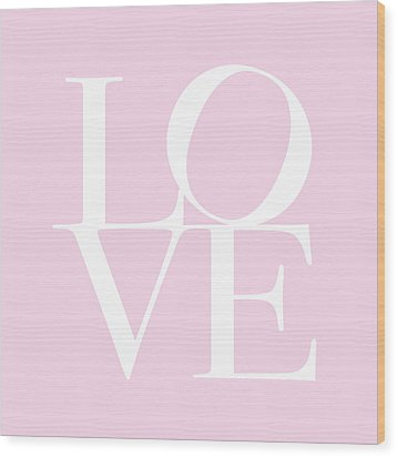 Love In Pink Wood Print by Michael Tompsett