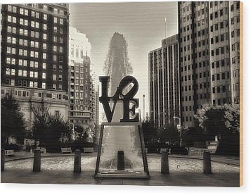 Love In Sepia Wood Print by Bill Cannon
