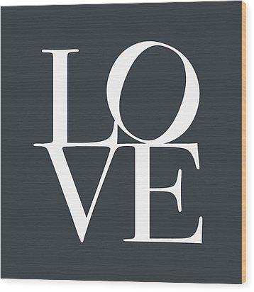 Love In Slate Grey Wood Print by Michael Tompsett
