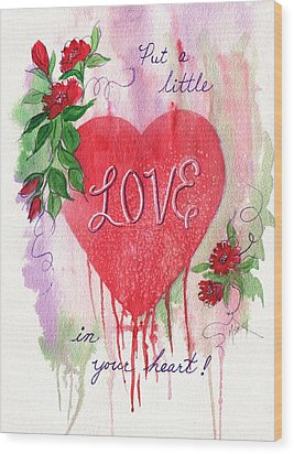 Wood Print featuring the painting Love In Your Heart by Marilyn Smith