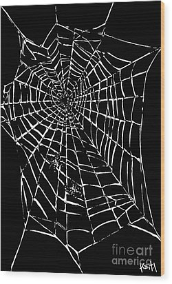 Love Is A Tangled Web Wood Print by Turtle Caps