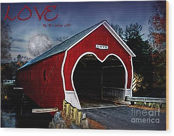 Wood Print featuring the photograph Love Is In The Air by DJ Florek