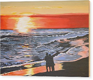 Love Is In The Air Wood Print by Donna Blossom