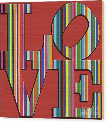 Wood Print featuring the mixed media Love Is Love by Carla Bank