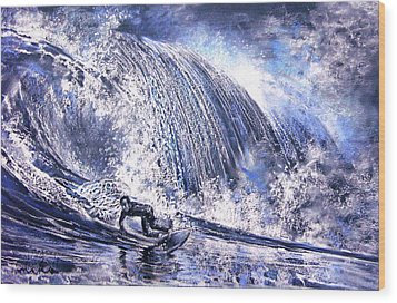 Love Is The Seventh Wave Wood Print by Miki De Goodaboom