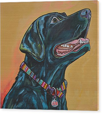 Love Lab Wood Print by Patti Schermerhorn