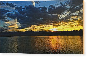 Wood Print featuring the photograph Love Lake by Eric Dee