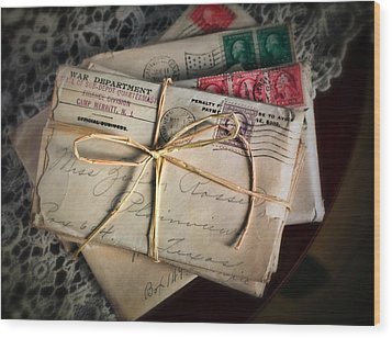 Love Letters Wood Print by June Marie Sobrito