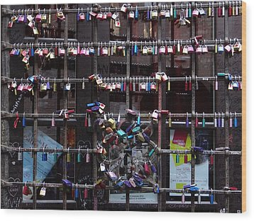 Love Locks At Juliet's House Wood Print by Keith Stokes