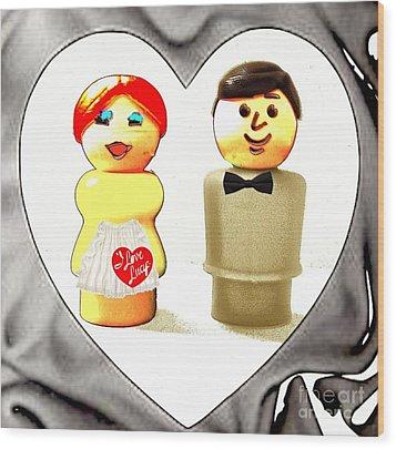 Love Lucy Wood Print by Ricky Sencion