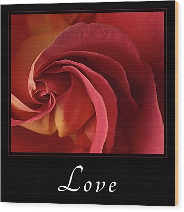 Wood Print featuring the photograph Love by Mary Jo Allen